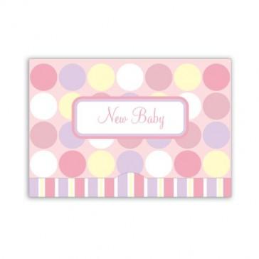 Jillson Roberts Gift Card Holders, New Baby Girl, Pink Polka Dots, 6-Count (GCP020)