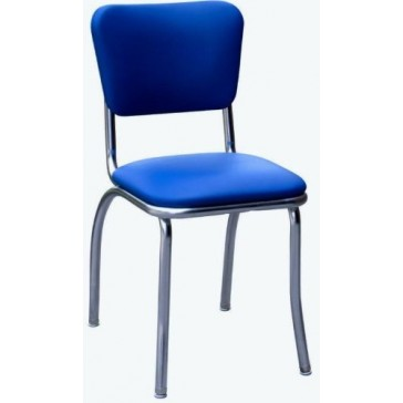 """Budget Bar Stools 4110RBL Diner Chair with 1"""" Seat, Steel, 15.25"""" L x 15.25"""" W x 31"""" H, Royal Blue"""