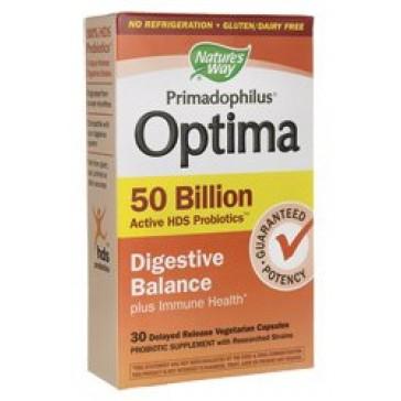 Nature's Way 30 Piece Primadophilus Optima Digestive Balance Capsules, 30 Count