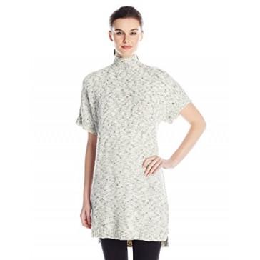 Calvin Klein Jeans Women's Funnel Neck Poncho, Scheme, Large