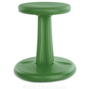 """Kore Patented WOBBLE Chair, Made in the USA, Active Sitting for Toddler, Pre-School, Kids, and Teens; Kids don't have to sit still anymore - """"The BEST seat in any Classroom""""! - Pre - Green (12in)"""