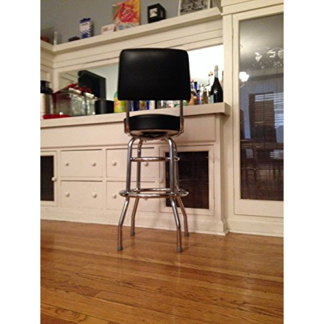 Excellent Budget Bar Stools 1958Blk Double Ring Commercial Bar Stool Beatyapartments Chair Design Images Beatyapartmentscom