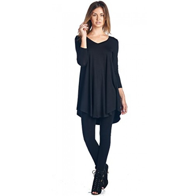 0e924c1020d64 Popana Women s Tunic Tops For Leggings - Long Sleeve Vneck Shirt - Regular  and Plus Size · Zoom. Previous  Next