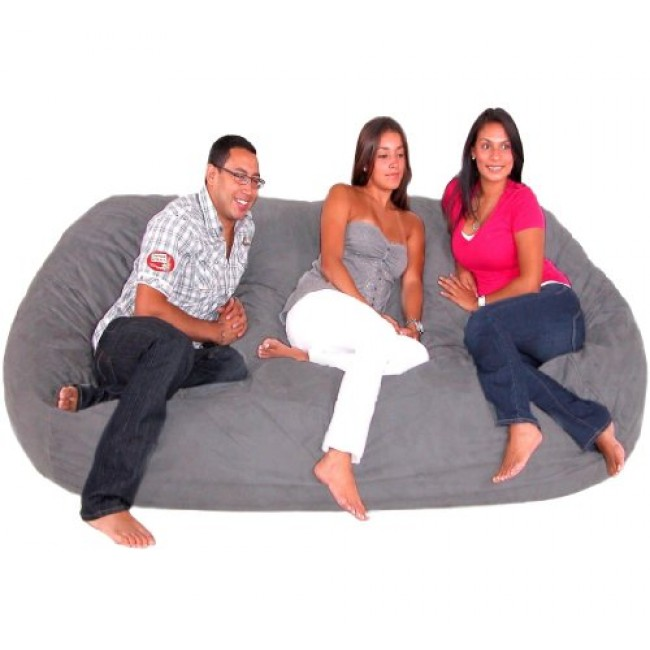 Swell Cozy Sack 8 Feet Bean Bag Chair X Large Grey Squirreltailoven Fun Painted Chair Ideas Images Squirreltailovenorg