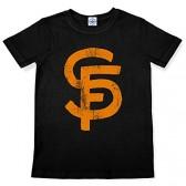 Hank Player 'S.F. (San Francisco) Brush Logo' Kid's T-Shirt (4T, Black)