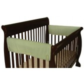 Leachco Easy Teether XL Side Crib Rail Cover, 2 Pack, Sage