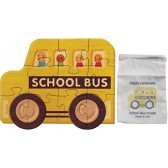 School Bus Shaped Puzzle - Made in USA