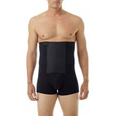 Underworks Zip-N-Trim Support Boxer Brief for Men with 8-inch Powerband Small Black