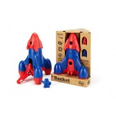 Green Toys Rocket with 2 Astronauts Toy Vehicle Playset, Red/Blue