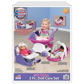 American Plastic Toy My Doll 3 Piece Play Set