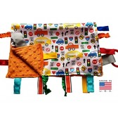 Lovey Security Baby Blanket Sensory Tag Toy Educational Traffic Cars Trucks The Learning Lovey