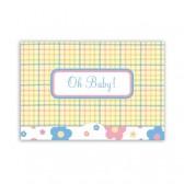 Jillson Roberts Gift Card Holders, Oh Baby Plaid, 6-Count (GCP007)
