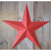 16 Inch Rustic Radiant Red Star Made with Galvanized Metal to Prevent Rusting. Amish Hand Made Your Source for Heavy Duty Metal Tin Barn Stars and Primitive Style Stars for Your Country Crafts and Home and Garden Decor. American Handcrafted - Made in the