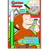 Curious George Invisible Ink & Magic Pen Coloring book and Curious George 8 Sticker Puzzles with 240 Stickers and 20 Bonus Magnets Activity Set.