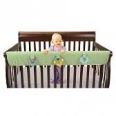 Leachco Easy Teether XL - Crib Rail Cover For Convertible Cribs - Sage