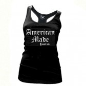 Women's Cartel Ink American Made Racerback Tank Top Black S