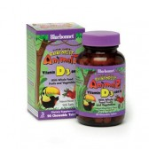 Bluebonnet Super Earth Rainforest Animalz Vitamin D3 400 IU Chews, Mixed Berry, 90 Count