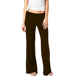 Popana Women's Casual Chic Palazzo Pants Small Brown - Made in USA