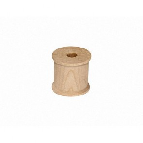 100 Wood Spools 1/2 X 1/2 Inches, Made in the USA, by My Craft Supplies