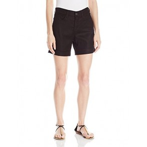 NYDJ Women's Avery Short Linen, Black, 0
