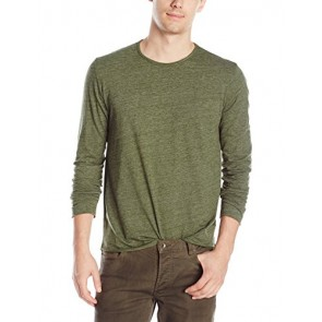 VELVET BY GRAHAM & SPENCER Men's Earnest Long Sleeve Crew Neck Jersey Tee, Camp, Small
