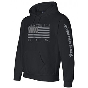 Made in USA Black Hooded Sweatshirt - Large