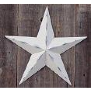32 Inch Rustic Ivory Barn Star Made with Galvanized Metal to Prevent Rusting. Amish Hand Made Your Source for Heavy Duty Metal Tin Barn Stars and Primitive Style Stars for Your Country Crafts and Home and Garden Decor. American Handcrafted - Made in the U