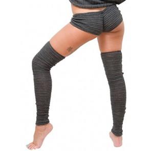 Charcoal Petite / XS Drawstring Yoga & Dance Sexy Stretch Knit Low Rise Shorts KD dance New York Activewear Casual Dancewear Loungewear Made In USA