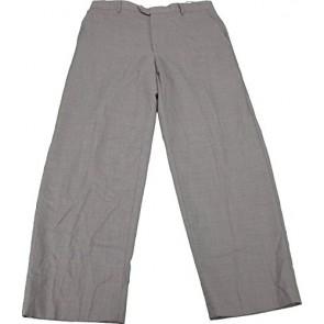 Kirkland Signature Flat Front Men's Size 34Wx30L Wool Dress Pants, Dark Khaki