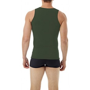 Underworks Mens Microfiber Compression Tank 3-Pack, Xsmall, Army Green