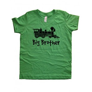 Boys Train Big Brother Shirt 3T-4T Green by Sunshine Mountain Tees