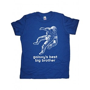 Boys Astronaut Big Brother Shirt 7-8 Blue by Sunshine Mountain Tees