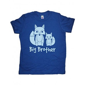 Boys Fox Pair Big Brother Shirt 2T Blue by Sunshine Mountain Tees