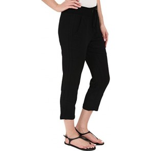 XCVI Women's Deondra Capris Black Pants XS (Women's 0-2) X 23