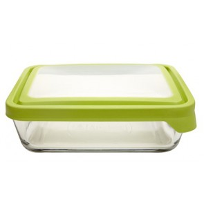 Anchor Hocking 11-Cup Rectangular Food Storage Containers with Green TrueSeal Airtight Lids, Set of 2