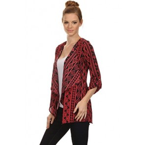 Regna X Miley and Molly Womens Sleeveless Multicolor Suede Jacket 16040 Red Small