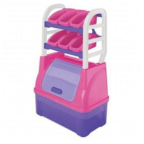 American Plastic Toys Girl's Toy Organizer Playset