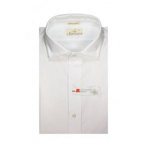 J Wingfield Men's Rushmore Pinpoint Supima Washed Dress Shirt Medium White
