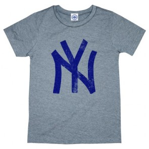 Hank Player 'N.Y. (New York) Brush Logo' Kid's T-Shirt (5, Heather Grey)