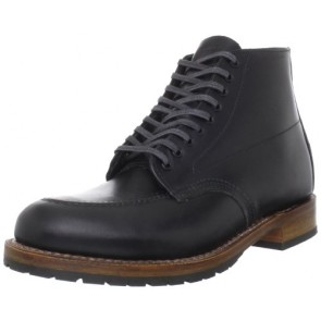 Red Wing Heritage Men's Beckman 6-Inch Embossed Moc Toe Boot,Black,7 D(M) US