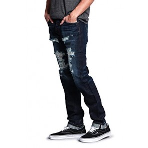 Men's Straight Fit Selvedge Jeans - DESTROYED - 28 (Made in USA)