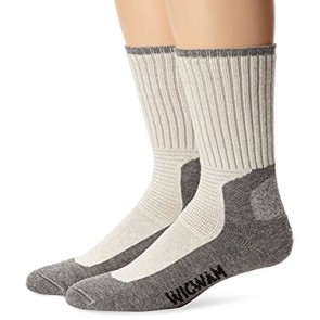 Wigwam At Work DuraSole Pro 2-Pack White / Grey MD 2-Pack