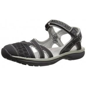 KEEN Women's Sage Ankle Sandal, Black/Neutral Gray, 5 M US