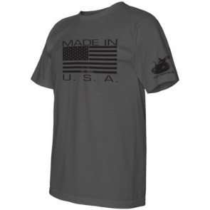 Made in USA Graphite T-Shirt Med. by Gadsden and Culpeper