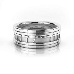 18k White Gold Ani Ledodi Vedodi Li Jewish Wedding Ring 9 mm
