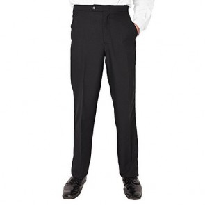 Men's Plain Front Tuxedo Pants Black (28)