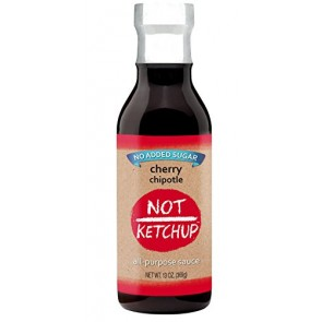 Cherry Chipotle Paleo BBQ Sauce, No Added Sugar, Gluten Free, All Natural, Dipping, Grilling and Marinating Sauce, 13 oz Bottle