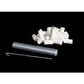Silverstick Travel Pipe with 25 Cotton Filters, a Stainless Steel Poker and an End Cap.