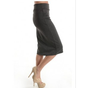 Azules Women's below the Knee Pencil Skirt - Made in USA (S, Charcoal)