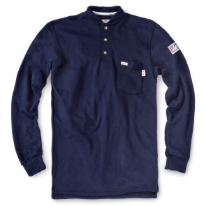 Tyndale Men's Perimeter Insect Gaurd FRC FRMC Classic Henley MEDIUM Navy Blue